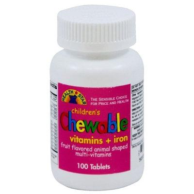Health Star MULTI-VIT, F/KIDS FRUIT CHEWS W/IRON