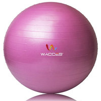 Wacces's Health and Fitness Stability Anti-Burst Body Yoga Ball, 75cm, Pink