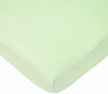 American Baby Company Heavenly Soft Chenille Bassinet Sheet - Celery - 2 Pack