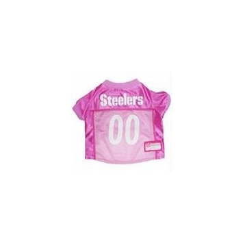 Doggie Nation.com Pittsburgh Steelers Pink Dog Jersey Medium