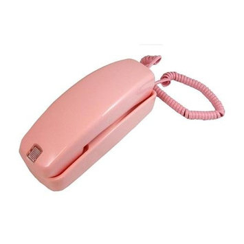 Golden Eagle Trimline Corded Telephone - Design from 60s with Modern Electronics - Pink