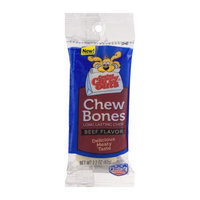 Canine Carry Outs Chew Bones Beef Flavor Long-Lasting Dog Snacks, Large Bones, Single Bone