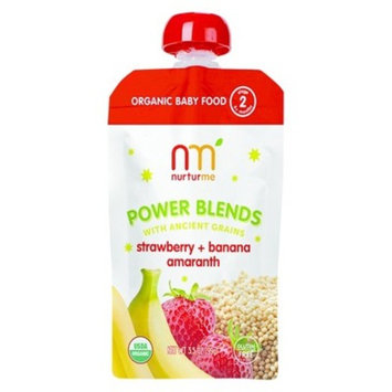 NurturMe Stage 2 Power Blends Strawberry, Banana and Amaranth Organic Baby Food - 3.5 Ounce Pouch