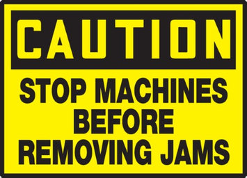 Accu Form STOP MACHINES BEFORE REMOVING JAMS