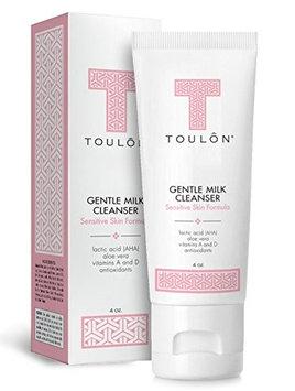 TOULON Gentle Milk Cleanser: Face Wash for Dry & Sensitive Skin; Mild Facial Cleanser with AHA, Lactic Acid, Aloe Vera & Antioxidants