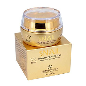 Snail Repair Cream - Moisturizing Anti-Wrinkle Snail Cream - REPAIRS CELLS - Evens skin tone and fades dark spots - REVERSES SUN DAMAGE - Snail face cream - by HAWWWY