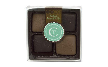 Chocolate Therapy 4-Piece Salt Caramel Milk And Dark Chocolate Truffles Gift Box, 3.2 Oz
