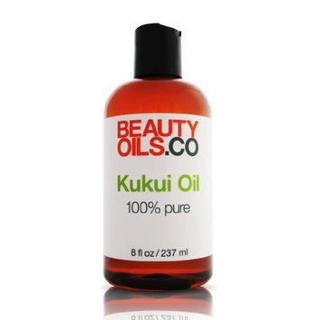 Kukui Oil - 100% Pure Vegan Face and Body Moisturizer for Dry Skin (8 fl oz)