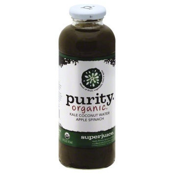Purity Organic Superjuice Kale Coconut Water Apple Spinach 14 fl oz