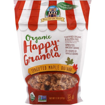 Bakery On Main, Organic, Happy Granola, Sprouted Maple Quinoa, 11 oz (312 g) [Flavor : Sprouted Maple Quinoa]