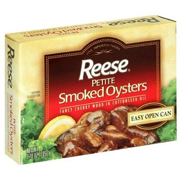 Reese Petite Smoked Oysters, 3.7-Ounce, 10-Count Cans by Reese