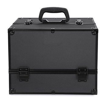Anfan Makeup Train Case Professional Cosmetic Box with Adjustable Dividers Lockable Beauty Case