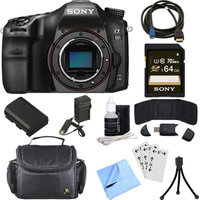 Sony ILCA68/B a68 A-Mount 24.2MP Digital Camera with APS-C Sensor Body 64GB Bundle
