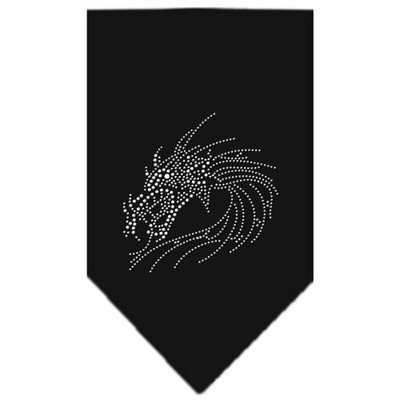 Mirage Pet Products 6726 LGBK Dragon Rhinestone Bandana Black Large