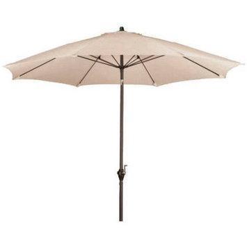 Lauren & Company 9-ft Round Antique Beige Patio Umbrella with Tilt-and-Crank LCATA-ANTZ