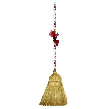 Cute Tools Garden Broom - Landscaping Instrument, Sweep and Dust With This Garden Accessory, Hand Painted Wooden Broomstick In The USA, Durable Yard and Gardening Equipment From CuteTools! - Art For A Cause, Rose Floral