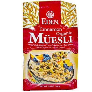 Eden Foods, Organic Muesli, Cinnamon, 17.6 oz (500 g) [Flavor : Cinnamon]