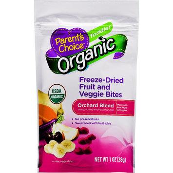 Parent's Choice Organic Orchard Blend Freeze-Dried Fruit and Veggie Bites, Toddler, 1 oz