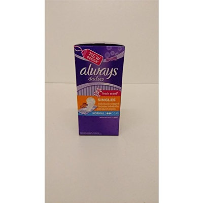 Always Dailies Singles Normal Pantyliners SIX PACK 6x20 Pads Fresh Scent