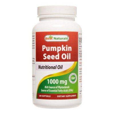 Best Naturals Pumpkin Seed Oil 1000 mg 180 Softgels