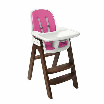 OXO Tot Sprout Chair with Tray Cover, Pink/Walnut [Pink/Walnut]