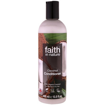 Faith in Nature, Conditioner, For Normal to Dry Hair, Coconut, 13.5 fl oz (400 ml) [Scent : Coconut]