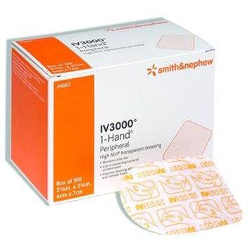 Smith & Nephew IV3000 Catheter Dressing 4 x 4.75, 1 Hand Transparent Adhesive Dressing, Box of 50