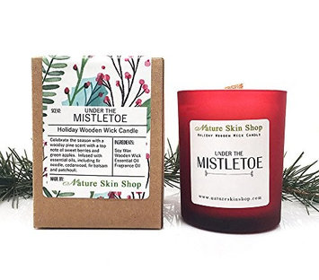 Nature Skin Shop Holiday Artisan Wooden Wick Candles (Mistletoe)