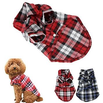 CXB1983(TM) Cute Pet Dog Puppy Clothes Shirt Size XS/S/M/L Blue Red Color