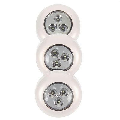 LightIt! Under Cabinet Lighting White Stick-On Light (3-Pack) 30010-308