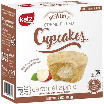 Katz Gluten Free Caramel Apple Crème Filled Cupcakes   Dairy, Nut, Soy and Gluten Free   Kosher (1 Pack of 4 Crème Cupcakes, 7 Ounce)