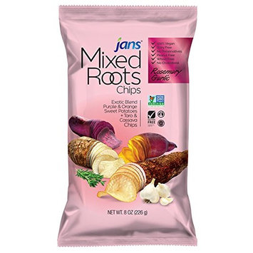 Mixed Roots Chips - All Natural Vegetable Chips (Rosemary Garlic, 8 oz)