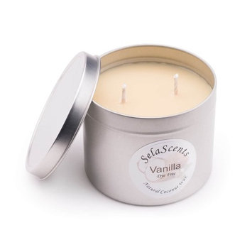 Sela Scents Large 16 oz. Pillar Vanilla Scented Aromatherapy Soy Wax Candle 50 Hour Burn Time