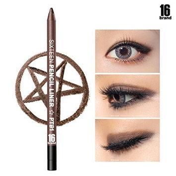 [16Brand] 16 Pencil Liner 0.5g / #PT01 Brown (No Smudging Waterproof Eyeliner)