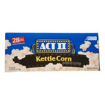 ACT II Microwave Popcorn, Kettle Corn, 28 Ct