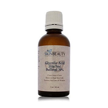 (2 oz/60 ml) GLYCOLIC Acid 70% BUFFERED -Skin Chemical Peel - - Alpha Hydroxy (AHA) For Acne, Oily Skin, Wrinkles, Blackheads, Large Pores & More (from Skin Beauty Solutions): Beauty