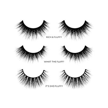 Velour Lashes - 'Thick and Fluffy' Collection (3 Pairs of Mink Lashes) - Fake/False Natural Eyelashes - Long Lasting 25+ Applications - Natural & Lightweight - Ethically Sourced - Easy Application