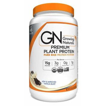 Growing Naturals Organic Premium Rice Protein Powder, Vanilla, 32.8 Ounce [Vanilla]