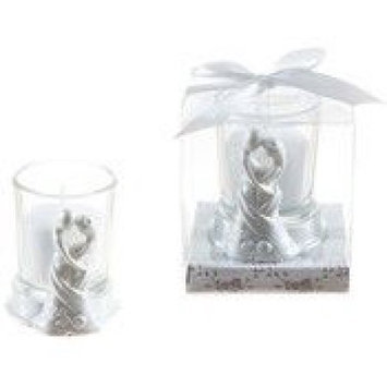 Ddi Couple Embracing Poly Resin Candle Set - White(Case of 48)
