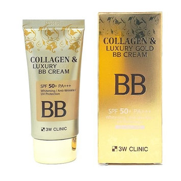 3W CLINIC Collagen & Luxury Gold BB Cream 1.69Oz SPF50+/PA+++ Wrinkle Care