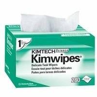KIMTECH SCIENCE Kimwipes Delicate Task Wipe Light Duty White 1 Ply Tissue 4-2/5 X 8-2/5 Inch Disposable 280 Count 1 Case 60 Box Per Case