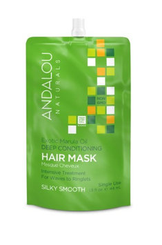 Exotic Marula Oil Silky Smooth Deep Conditioning Hair Mask Andalou Naturals 1.5 oz Cream