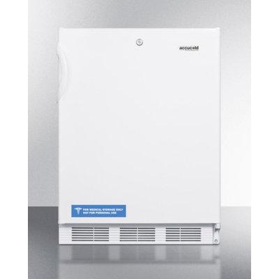 Summit FF7LADA 5.5 Cu. Ft. White Undercounter Compact Refrigerator