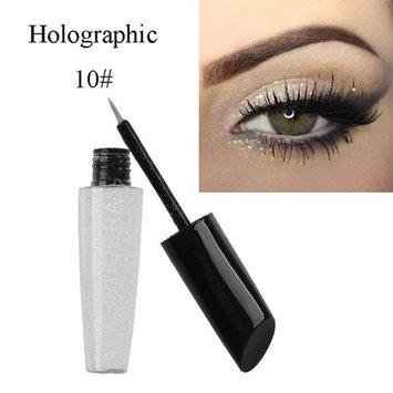 Smoky Eyeshadow,vmree 3D Waterproof Glitter Liquid Eyeliner Shimmer Highlighter Face Powder Palette Face Base shine Illuminator Makeup