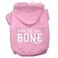 Mirage Pet Products Bad to the Bone Dog Pet Hoodies Light Pink Size Lg (14)