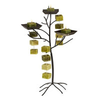 Deco Breeze NAT5441 Candle On Rope Tower Holder - Tree Bronze