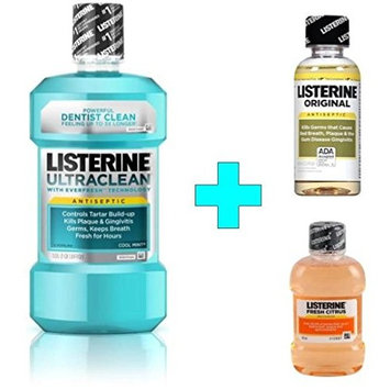 Listerine Ultra Clean Antiseptic Mouthwash, Cool Mint, 33.8 Fluid Ounces