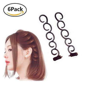 Lady Magic French Hair Braiding Tool, 6Pcs Twist Plait Hair Braiding Tool Hair Styling Tool Clip Hair Accessories for Women