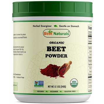 Best Naturals Certified Organic Beet Root Powder 8.5 oz (240 Gram), Non-GMO Project Verified & USDA Certified Organic
