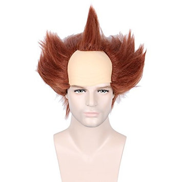 Linfairy Unisex Short Bald Wig Wig Halloween Costume Wig for Adult